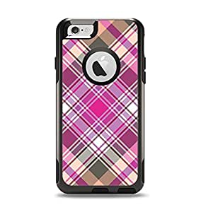 The Gray & Bright Pink Plaid Layered Pattern V5 Apple iPhone 6 Otterbox Commuter Case Skin Set (Skin Only)