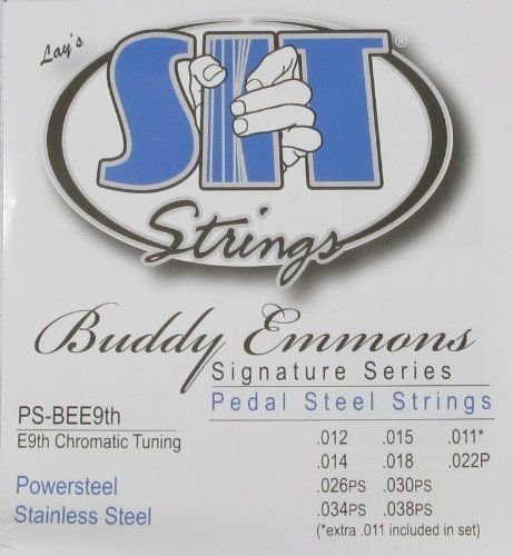 SIT Pedal Steel Stainless Steel 10-String Set, E9 Tuning - 1 Set