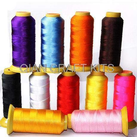 Dalab 8 spools Mixed Colors Nylon Thread Knotting Cord Macrame Cord (0.25-0.75mm), Braided Cord, Knot Macrame Shambala