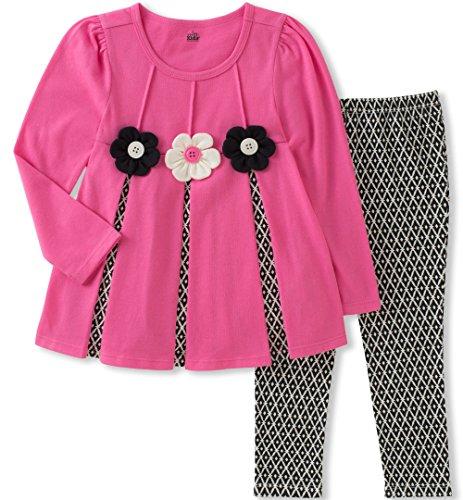 Hot Girl With Leggings (Kids Headquarters Baby Girls' Tunic Legging Set, hot Pink,)