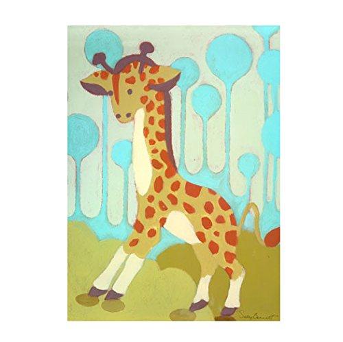 Oopsy Daisy Gigi Giraffe, Blue, 18 x 24'' by Oopsy Daisy