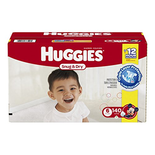 Huggies Snug & Dry Diapers, Size 6, 140 Count …
