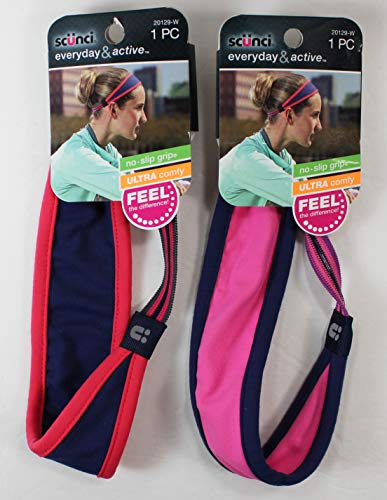 No Slip everday active headband headwrap, (pack of 2) Colors Vary