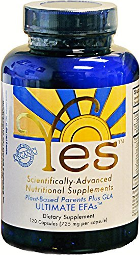 Capsules Mineral 120 Supplement - Yes Parent Essential Oils ULTIMATE EFAs 120 Capsules, Based On The Peskin Protocol, Plant Based Organic Ingredients, Omega 3 6, Vegetarian So No Fishy Aftertaste, Keto Friendly (Reduces Carb Cravings)