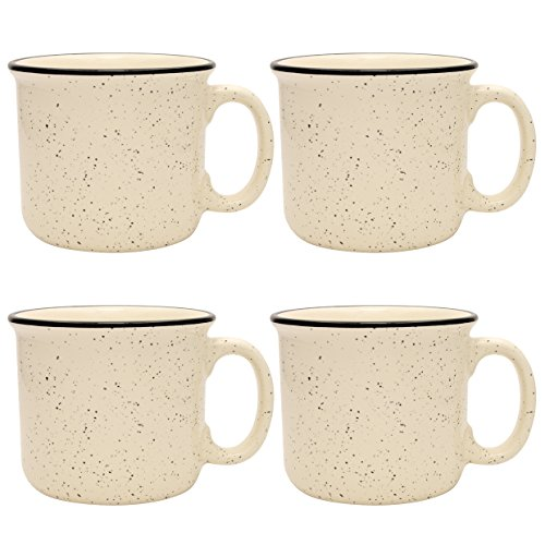 Culver 14-Ounce Campfire Ceramic Mug Set of 4