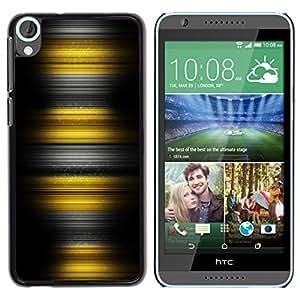 TopCaseStore / la caja del caucho duro de la cubierta de protección de la piel - Yellow Stripes - HTC Desire 820