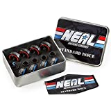 NEAL Precision Skate Bearings / 3 Different Types - Ceramic - Swiss - Titanium / 608rs - Skateboard - Longboard - Inline - Scooter. The Best Bearings GUARANTEED. (Standard/Ceramic, 8 PCs)
