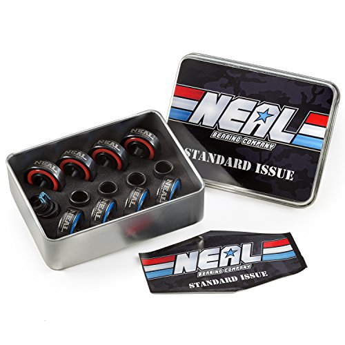 NEAL Precision Skate Bearings/3 Different Types - Ceramic - Swiss - Titanium/608rs - Skateboard - Longboard - Inline - Scooter. The Best Bearings GUARANTEED. (Standard/Ceramic, 8 PCs)