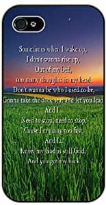Sometimes when I wake up, I don't wanna rise up - Green landscape, sun - Bible verse iPhone 5 / 5s black plastic case / Christian Verses