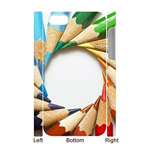 3D Bumper Plastic Case Of Art Pencil customized case For Iphone 4/4s