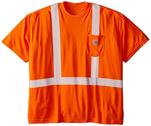 Carhartt Mens Big & Tall High Visibility Force Short Sleeve Class 2 Tee