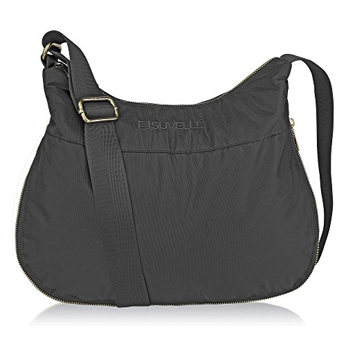 (Suvelle Lightweight Hobo Travel RFID Blocking Expandable Crossbody Bag Multi Pocket Shoulder Handbag)