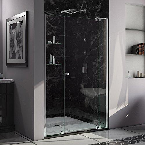 (DreamLine Allure 49-50 in. Width, Frameless Pivot Shower Door, 3/8