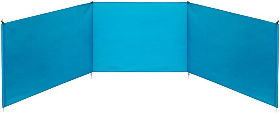 Azul 200 x 75 cm Aktive 53442 Paravientos de playa plegable