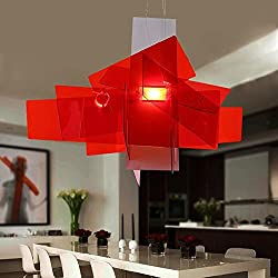 WY Ceiling Fixture Pendant Lamp New Chandeliers Modern Chandelier Acrylic Boom Big Bang White Stacked Chandelier, red