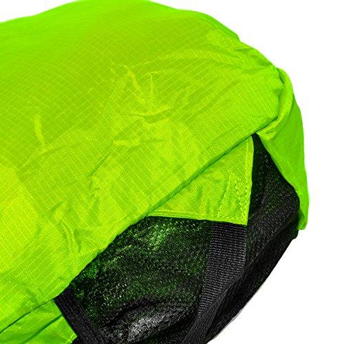 Mochila Plegable Mochila de Hombro Backpack Bolsas de Hombro Bolso Bandolera Ultra Ligera Mochila Deportiva para Al Aire Libre Viaje Ciclismo Senderismo Nailon Verde, by LC Prime Verde