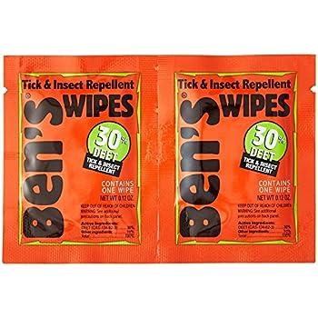 Ben's 30 Deet Mosquito Tick Insect & Bug Repellent Field Wipes - 24 Pack
