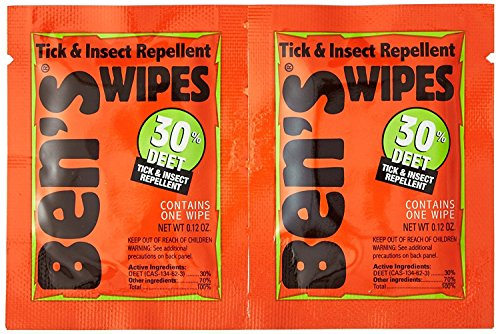 Ben's 30 Deet Mosquito Tick Insect & Bug Repellent Field Wipes - 24 Pack ()