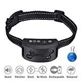 Leypin Dog Bark Collar [2018 Upgrade Version] Harmless and Humane,Rechargeable Anti Bark Training Collar with Adjustable Vibration and Shock Mode for Small/Medium/Large/Dogs