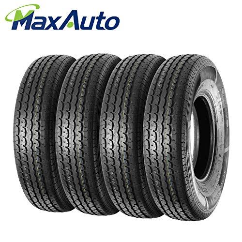 (Set of 4 Radial DOT Trailer Tires 235/85R16 ST23585R16 10PR/Load Range E 125L)