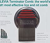 ORIGINAL Nit Free Terminator Lice Comb w/ Step-By-Step Guide - #1 RATED LICE & NIT COMB ON THE MARKET! Get Rid of Head Lice & Nits Easily with this Professional Stainless Steel Metal Comb by LEVIA