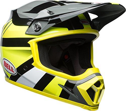 Bell MX-9 MIPS Off-Road Motorcycle Helmet (Gloss Hi-Viz Yellow/Black Marauder, Large) (Best Mx Helmet Under 200)