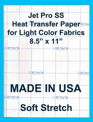 8.5 x 11-100 Sheets Neenah Jet-Pro Light Color Soft Stretch