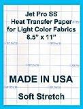 """Inkjet Jet Pro Soft Stretch Transfer Paper 11""""x 17'' (100sheets)"""