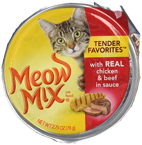 Meow Mix Cat Food, Market Select With Real Chicken and Beef In Gravy, 2.75oz