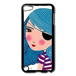 IPod Touch 5 Cases Bule Girl Design Hard Back Cover Shell Desgined By RRG2G