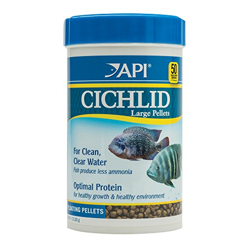 API Cichlid Large Pellets Large Floating Pellets Fish Food 7.1 oz Container