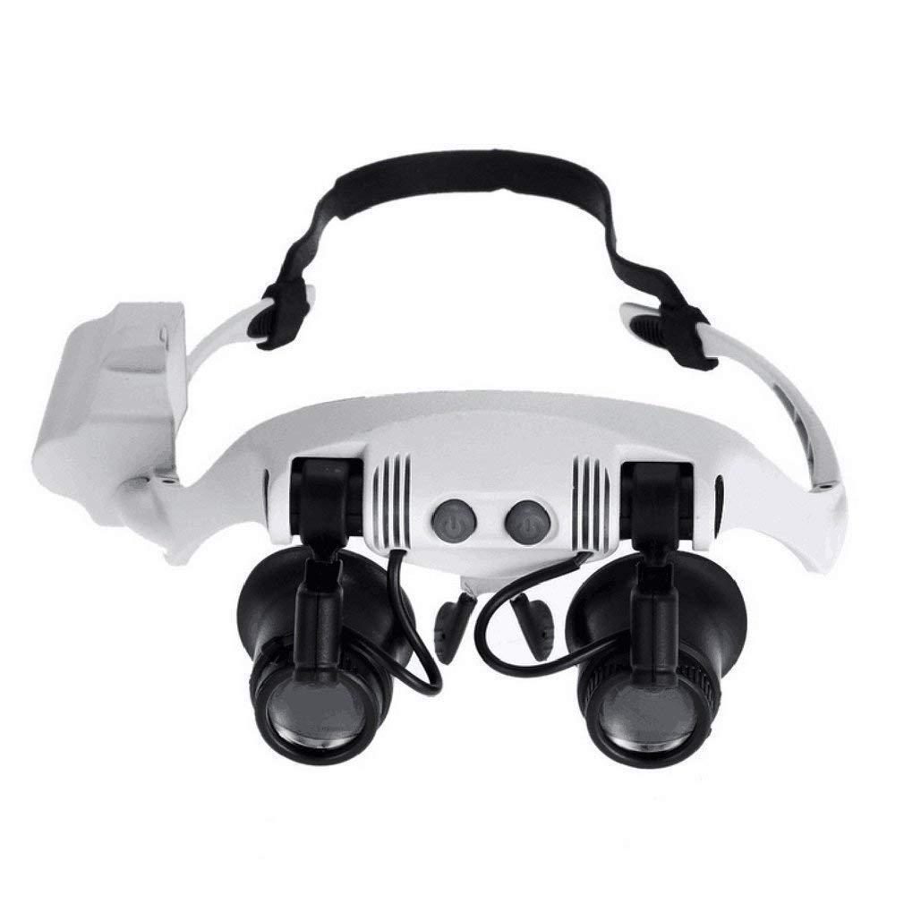 REFAGO Foldable Headband Design Binoculars Magnifier Glasses LED Magnifying Glass