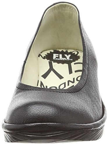 Fly London Pump, Mocasines Mujer Negro (Negro)