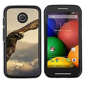LECELL--Funda protectora / Cubierta / Piel For Motorola Moto E -- Búho Hawk Predator caza de aves rapaces --
