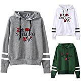 shusuen Womens Print Rose Long Sleeve Hoodie Sweatshirt...