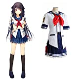 Mocona Japanese College Student Cosplay School Uniform.