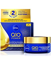 Nivea Q10 Power Anti-Wrinkle + Moisture Replenishment Night Cream With Q10 & Organic Argan Oil, 50 Ml Jar, 50 Milliliters