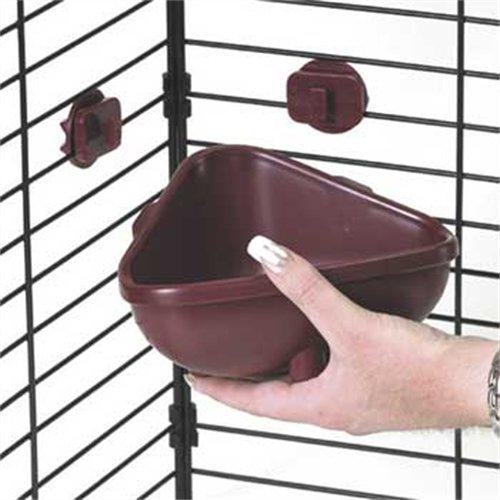Kaytee-Small-Animal-Hang-N-Lock-Corner-Crock-Colors-Vary