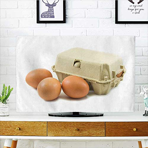 """Price comparison product image Philiphome tv dust Cover Eggs and Paper Egg Tray on White Background Dust Resistant Television Protector W20 x H40 INCH/TV 40""""-43"""""""