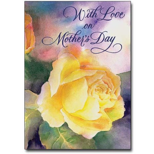 Mother's Day Deluxe Religious Greeting Card with Mom's Prayer HC Includes Envelope & Free Cross Bookmark