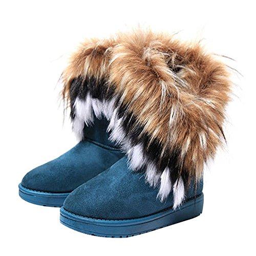 TAIYCYXGAN Women's Boots Blue