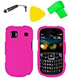 Phone Cover Case Cell Phone Accessory + Extreme Band + Stylus Pen + Yellow Pry Tool For AT&T ZTE Z431 Altair (Pink)