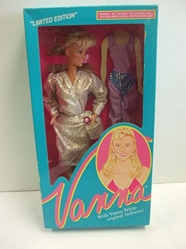 Vanna White Doll #003 Dress with Purple and Blue Unitard - Limited Edition From HSN Home Shopping Club -