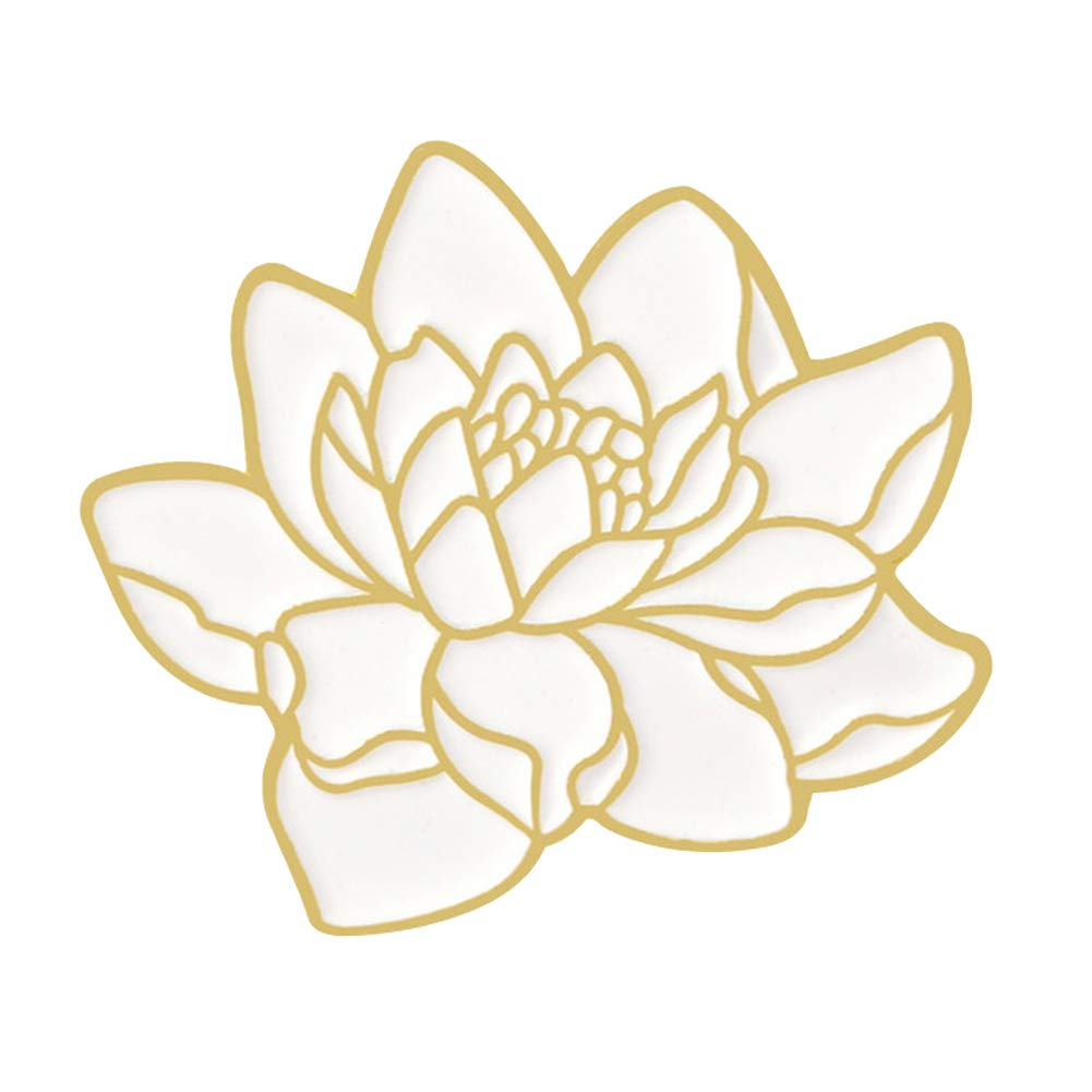 XYanXXX Creative Brooch Pin,Lotus Wave Design Enamel Lapel Pins Badges for Clothing Bags Backpacks Jackets Hat DIY 1#