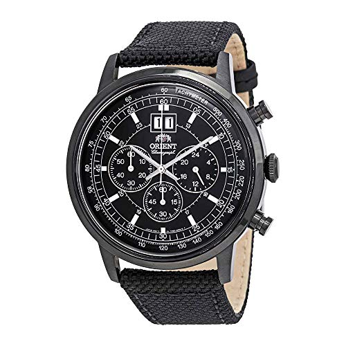 (Orient Classic Chronograph Black Dial Mens Watch FTV02001B0)