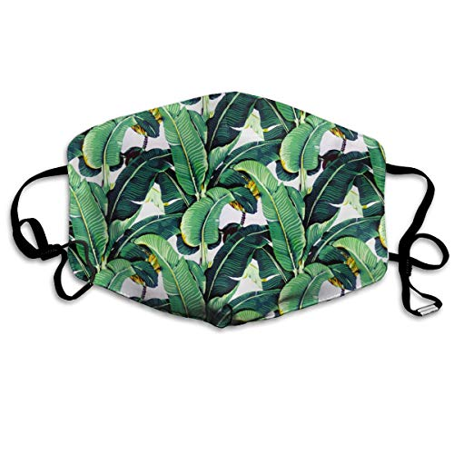 Reusable Comfy Breathable Safety Air Fog Respirator - for Outdoor Half Face Masks - Protection Pollution Face Flu Germs Allergens Masks for Women Man Martinique Banana Leaf
