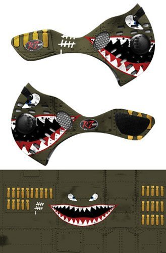 RZ Mask Dust Mask, Gender: Mens/Unisex, Primary Color: Green, Distinct Name: Spitfire, Size: XL by RZ Mask