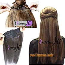 """Remeehi Secret Wire Real Human Hair Extensions 100g Straight Hidden Halo Hair Extensions (16"""" 18# Dark Ash Blonde)"""