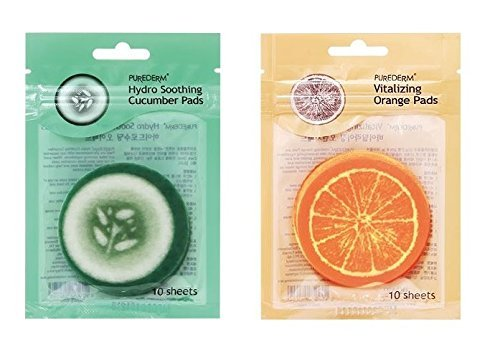 Purederm - Vitalizing Orange Pads + Hydro Cucumber Pads Set for men and woman - For dry and sensitive Eye Area - Eye Mask - Facial Care (Tesco Halloween Adults Costumes)
