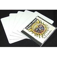 Square Deal Recordings & Supplies (100) White Heavy Duty 30mil Narrow CD Jewel Box Divider Cards - 4-7/8 x 6-3/4 - CDNS68NWH30